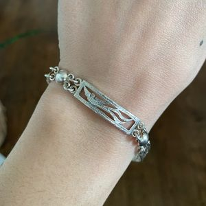 Silver Quetzal Bird Bracelet